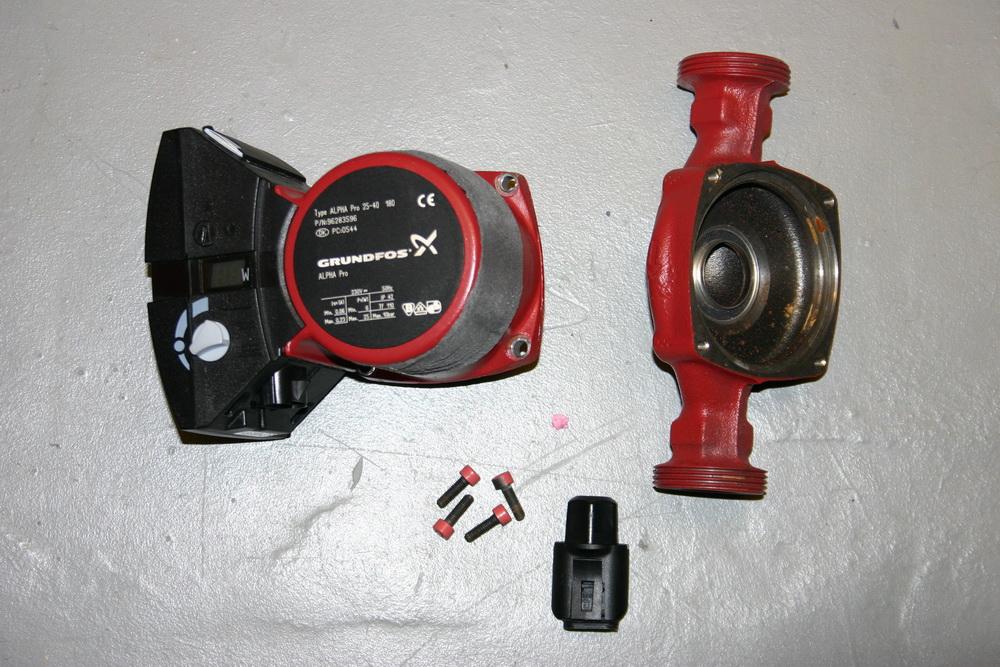 Pumpenkopftausch Hocheffizienzpumpe Grundfos Alpha Pro 2 ...